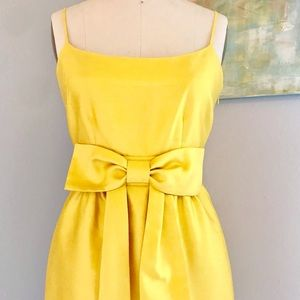 Kate Spade Canary Yellow Silk Party Dress